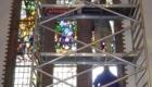 Koeleman Bouw Monumentenbeheer Renovatie glas in lood en koper van torenspits Kerk Oostzijde De Hoef
